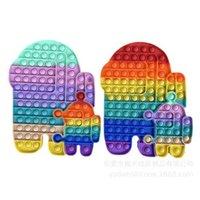 2 pièces Fidget POP POW POW BULBLE POPHE POPSAW GRAND GIANT JUMBO SENSORAY jouets Rainbow Macaron Doigt Bulles Puzzle Puzzle Board Grand Taille G6892BZ