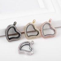 Memory Locket Memory Photo Glass Cornici in cristallo Aperto Charm Blocchi Galleggianti Pendenti per collana