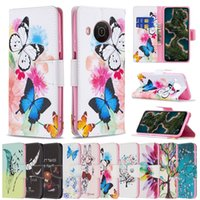 Double-sided Patterns Wallel Flip PU Leather Protector Phone Cases For Nokia X10 X20 G20 1.4 C1 Plus 5.4 3.4 2.4 1.3 5.3 2.3 Wallet Case+Stand Holder