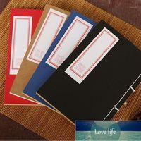 Notepads ColoFfice 1 ADET Çin Tarzı Dizüstü Geleneksel Manuel Threading Retro Dergisi Kraft Kağıt Hattı Öğrenci Hediye Ofisi1 Fabrika Fiyat Uzmanı için Not Defteri