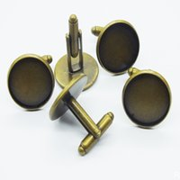500pcs 12/14/16/18MM Rhodium Plated Fashion Round Metal Cufflink Cuff Link Backs Blanks Plate Findings