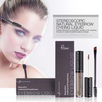 Pudaier 1 Set Eyebrow Makeup Gel Women Eyes Matte Eye Brow Cream Tattoo Cosmetics Brows Enhancer With Brush Pencil in stock
