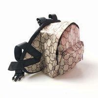 Moda Puppy Bag Perro Ropa Casual Carta Impresa Pocket Teddy Schnauzer Francés Bulldog Pequeña Mochila