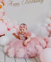 Girl's Dresses Lovely Pink Girls Pageant Gowns With Sequins Tulle Flower Girl Baby Birthday Party