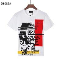 DSQUARED2 DSQ PHANTOM TURTLE SS Mens Designer T shirt Italian fashion Tshirts Summer DSQ Pattern T-shirt Male High Quality 100% Cot gqr