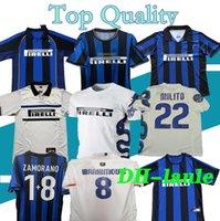Finaller 2009 2010 Milito Sneijder J.zanetti Retro Futbol Jersey Lucio Futbol Milan 1998 1999 Pirlo 97 98 99 Djorkaeff Baggio Ronaldo
