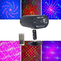 Mini LED Laser Lighting Voice Control Projector Mixed Red & Green Lighting For Lights Xmas Club Party Bar Pub Club Music DJ