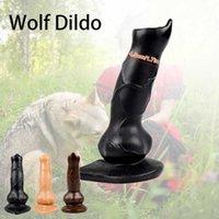 Massage Dog Dildo Sextoys Realistic Penis Dildo Anal Plug with Suction Cup Female Animal Dildos for Women Masturbators Erotic Sex Toys