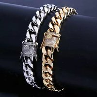 7 8 inch 10mm iced out chains bracelets for men hip hop luxury designer mens bling diamond cuban link chain bracelet 18k gold plated jewelry