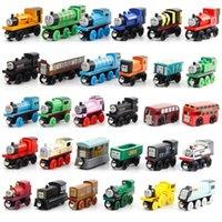 الكرتون قطار أصدقاء خشبي لعبة صغيرة سيارات إعطاء الأطفال هدايا اللعب