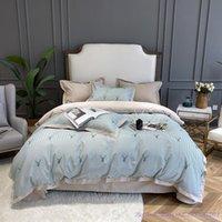 Set di biancheria da letto 100Cotton Double-Strand Brushed Stampato BedDingSet Puro cotone Puro di spessore Autunno Inverno Lenzuola Lettini Light Luxury American Home Textil