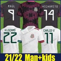 2021 Mexico Soccer Jerseys Concacaf Fold Cup National Teation Oechs Man Kids Chicharito C.vela R.Jimenez Football Jersey A.Guardado G.Dos Santos Camiseta de Mexican