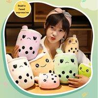 Odwracalne pluszowe zabawki Boba Bubble Bubble Mleko Herbata Kubek Drink Nadziewane Lalki Kawaii Dziecko Dzieci Dziewczyny Gifts Home Room Decor