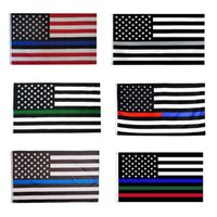 3x5ft Black American Flag Polyester No Quarter Will Be Given US USA Historical Protection Banner Flag Double-Sided Indoor Outdoor GWF10399