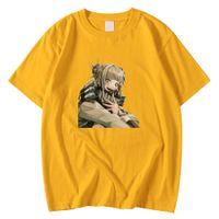 Moda Nefes erkek Tee Gömlek Yaz Crewneck T-Shirt Benim Kahraman Academia Himiko Toga Baskı Giysi Büyük Boy T Shirt Adam Y0809