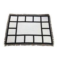 ホームテキスタイル9ペネセル毛布昇華ブランクブランケットブラックホワイト熱伝達印刷ショールラップソファースリープスロー