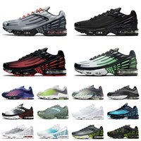 2021 Newest Running Shoes TN 3 Tuned III Plus 2 Men Women Purple Green Radiant Red Triple All White Mens Womens Trainers Sports Sneakers