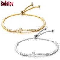 Charm Bracelets Seialoy Fine Zirconia Stone Meteor Starlink Bracelet & Bangle Pull Buckle Adjustable Boho Style For Women Men Jewelry