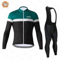 Гоночные наборы 2021 Тепловой флис с длинным рукавом Sportswear Осенний Джерси Костюм для мужчин Зимний велосипед набор велосипедных велосипедов