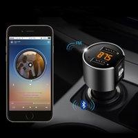 자동차 MP3 플레이어 블루투스 핸즈프리 키트 FM 송신기 담배 가벼운 듀얼 USB 충전 배터리 전압 감지 U 디스크 플레이