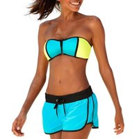 Women's Swimwear Women Strappy Push Up Bra Low Waist Shorts Bikini Set Two-piece Swimsuit 40JF