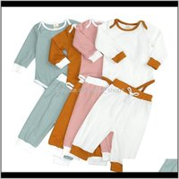 Sets Baby, & Maternitykt Ins Toddler Boys Girls Clothing Knitted Suits Spring Winter Baby Rompers With Straps Pants Long Sleeve Outfits Kids