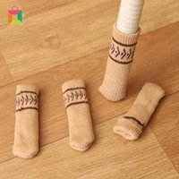 Chair Covers 4Pcs Table Foot Socks Leg Floor Protectors Non-Slip Knitting For Furniture Home Decor