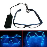 Strips El Wire Glow Sun Glasses Led DJ Bright Light Safety Up Multicolor Frame Flashing 10 Colour