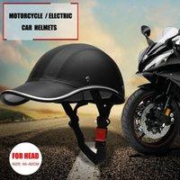Cycling Helmets Motorcycle Half Helmet Baseball Cap Face Electric Bike Scooter Anti-UV Safety Hard Hat #734