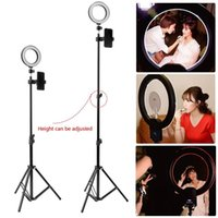 Flash Heads LED Ring Lamp Dimmable& Light Stand Kit Po Selfie Video Makeup Live Multi-scene Use 5W USB Port With Tripod Phone Holder