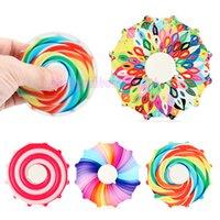 Fidget de dois lados fidificador dedo fingertip colorido girando top cor arco-íris mão spinners decompressão brinquedo presente