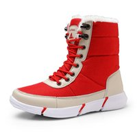Boots 2021 Winter Waterproof Snow Men Shoes With Fur Plush Warm Male Casual Women Mid-Calf Boot Sneakers Unisex
