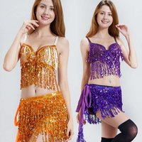 Indian Belly Dresses Casual Costume Sequin encrypting tassel square Dance suit