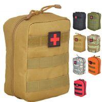 Saco vazio para kits de emergência Tactical Medical Primeiros Socorros Kit Pacote de Cintura Ao Ar Livre Camping Caminhada Caça Caça Molle Bolle Mini Survival Storage Case