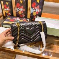 سوبر ميني ماري مارمونت حقيبة كروسبودي المرأة مصمم الجلود سلسلة ربط الكتف حزام أكياس القلب الحافز محفظة محفظة
