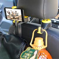 Crochet Hanger Carrières de voiture Porte-documents Retour pour sac Sac à main Porte-monnaie épicerie Portable 2in1 Crochets de clips multifonctions