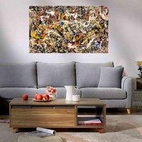 Pinturas Jackson Pollock Convergência Impressão giclée Poster Grande Pintura A óleo em Canvas Home Decor Arte de parede Fotos 210323 Auef