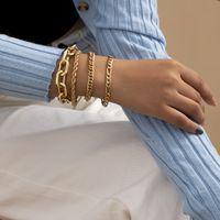 Punk Rock Cuban Chain Bracelets Set for Women Miami Boho Thick Gold Color Hip Hop Bracelets Bangles 2021 Fashion Jewelry