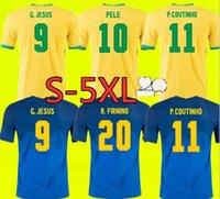 S-4XL Brasil Neres Coutinho Soccer Jersey 2021 2022 Camiseta de Futebol Brazils G.Jesus Firmino 20 21 Camicia da calcio