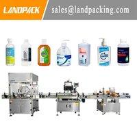 Equipamento industrial do Landpack completo Garrafa de líquido de líquido automático de enchimento e máquina de rotulagem