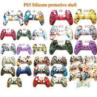 Neue Game Controller Skin Soft Gel Silikon Schutzabdeckung Gummigriff Fall für PS5 PlayStation 32 Farbe Auf Lager