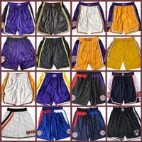 "Los ""Angeles"" La ""Clipper"" Los ""Angeles"" Lakers ""Memphis"" Grizzlies ""New Mens Boston"" Celtics ""tasca"" Pocket ""Pantaloncini da uomo"