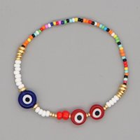 Beaded, Strands Go2Boho Turkish Evil Eye Braclets Colorful Beaded Bracelet For Women Fashion Luck Boho Jewelry Elastics Bracelets