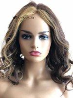 Unextar met en évidence la dentelle colorée de la dentelle de couleur moyenne humaine Perruque 13x4 avant 180% Brésilien Remy Wivy Wigs pour femmes