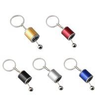 Bouton de bouton de vitesse Stick Stick Box Métal Keyfob Modification de voiture Pendentif Manuel à six vitesses Porte-clés à six vitesses A5O2 Décorations intérieures