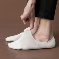 Men's Socks Summer Men Hollow Out Breathable Low Cut Ankle Slippers Solid Man Male Silicone Non-slip Invisible No Show Boat Sock