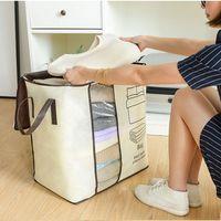Ponto Durável à prova de umidade à prova de poeira Impressão Zipper fecho de fechamento de roupas de armazenamento saco de armazenamento organizador de embalagem casa vestuário vestuário roupeiro