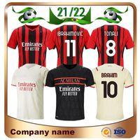 21/22 AC Mailand # 11 Ibrahimovic # 9 Giroud Soccer Jerseys 2021 Theo Brahim Tonali Shirt Romagnoli R.LEAO S.CASTILLERJO KESSIE SAELEMAEKERS FUTEL Uniform