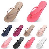 moda chinelos sapatos de praia flip flops c28 mulheres verde amarelo laranja marinho bule branco cor-de-rosa marrom verão sneaker 35-38