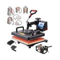 Machines de transfert de chaleur multifonctionnelles 9 en 1 Combo machine sublimation Imprimante de presse pour Tasse / Cap / T-shirt / T-shirt 3LeF